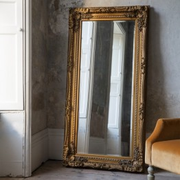 Carved Louis Leaner Mirror - different frame colours available