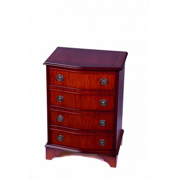 A1006 4 Drawer Serpentine Chest