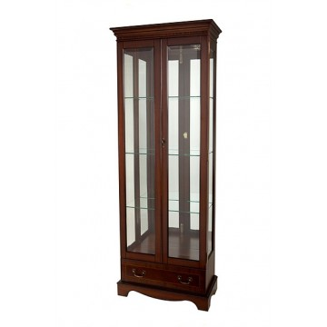 A406 Tall China Display With Drawer