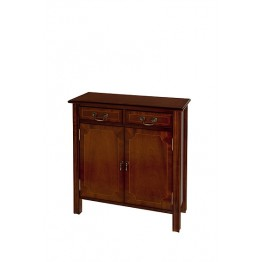 A510 Two Door Hall Cupboard with Chippendale Legs