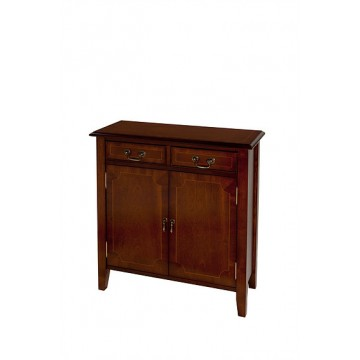 A514 Two Door Hall Cupboard with with Sheraton Legs