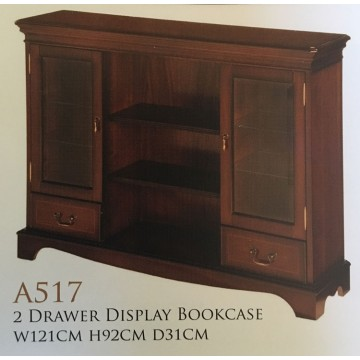 A517 Two Drawer Display Bookcase