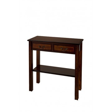 A705 Chippendale Style Hall Table with 2 Drawers