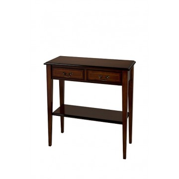A707 Hall Table with 2 Drawers - Sheraton Style Leg