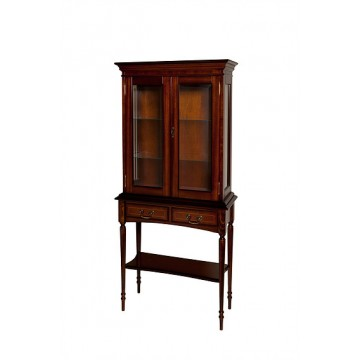 A708 Hall Table with Display Cabinet on Top