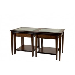 A806 Sheraton Lounge Nest Coffee Table with Glass Panels