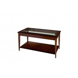 A808 Sheraton Oblong Coffee Table with Glass Top
