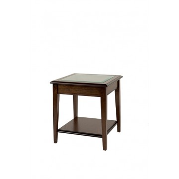 A811 Sheraton Lamp Table with Glass Top