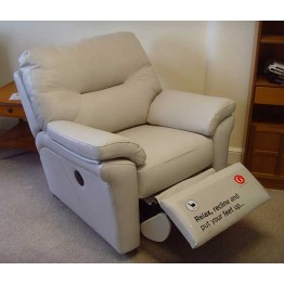 SHOWROOM CLEARANCE ITEM - G Plan Washington Suite - Three Seater (2 cushion) Power Recliner Chair & Fixed Chair