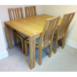 SHOWROOM CLEARANCE ITEM - Ercol Furniture Bosco Extending Dining Table with four dining chairs