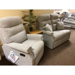 SHOWROOM CLEARANCE ITEM - Celebrity Furniture Sandhurst 2 Seater Sofa & Power Recliner