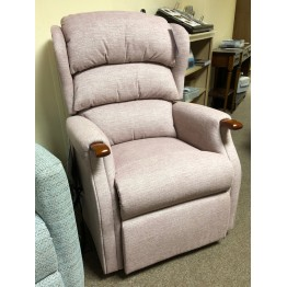 SHOWROOM CLEARANCE ITEM - RISER RECLINER - Celebrity Westbury Standard Dual Motor Lift and Tilt Recliner with Powered Adjustable Neck Pillow.