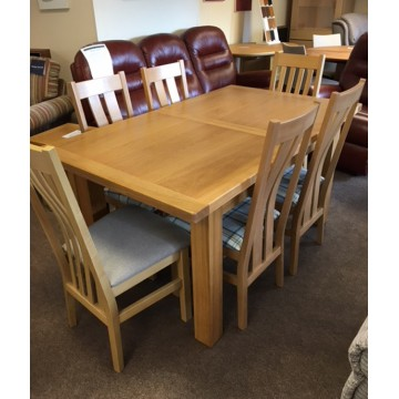SHOWROOM CLEARANCE ITEM - Charltons Furniture Bretagne Table and 6 Chairs