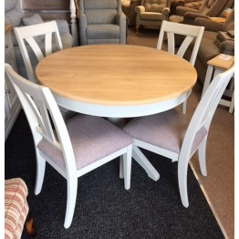 SHOWROOM CLEARANCE ITEM - Charltons Furniture Somerdale Table and 4 Chairs