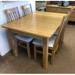 SHOWROOM CLEARANCE ITEM - Corndell Nimbus Table and 4 Chairs - Nimbus Dining Suite