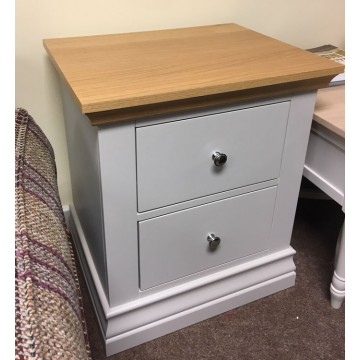 SHOWROOM CLEARANCE ITEM - Corndell Annecy Bedside Chest - Oak Top - Model 200