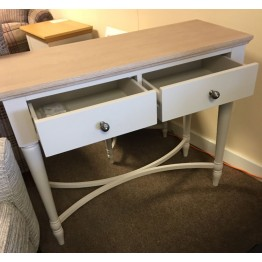 SHOWROOM CLEARANCE ITEM - Corndell Annecy Console Table - Limed Oak Top - Model 144