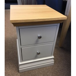 SHOWROOM CLEARANCE ITEM - Corndell Annecy Narrow Bedside Chest - Oak Top - Model 201