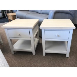 SHOWROOM CLEARANCE ITEM - Corndell Woodstock Bedside Tables or Lamp Tables -  THE PAIR TOGETHER