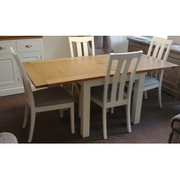 SHOWROOM CLEARANCE ITEM - Devonshire Lundy Flip Over Dining Table & 4 Chairs