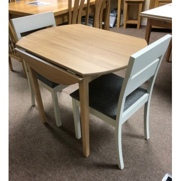 SHOWROOM CLEARANCE ITEM - De Zetel Dropflap Kitchen Table and 2 Chairs