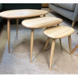 SHOWROOM CLEARANCE ITEM - Ercol Furniture Originals 354 Nest in Clear Matt finish