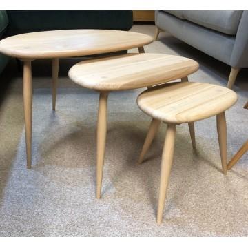 SHOWROOM CLEARANCE ITEM - Ercol Furniture Originals 354 Nest in Clear Matt finish