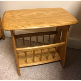 SHOWROOM CLEARANCE ITEM - Ercol Furniture Windsor Magazine Rack in Light Shade - Model Number 1153