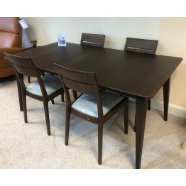 SHOWROOM CLEARANCE ITEM - Ercol Furniture Lugo Medium Dining Table with 4 Chairs