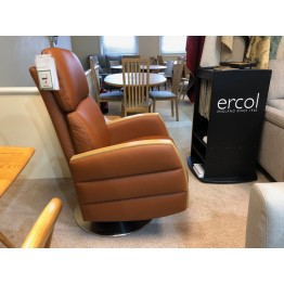 SHOWROOM CLEARANCE ITEM - Ercol Furniture Noto Swivel Recliner Chair in Leather