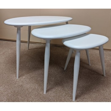 SHOWROOM CLEARANCE ITEM - Ercol Furniture Originals 354 Nest in Painted White finish