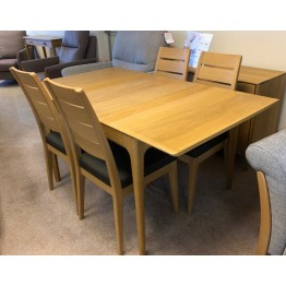 SHOWROOM CLEARANCE ITEM - Ercol Furniture Romana Dining Table and 4 Chairs