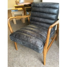 SHOWROOM CLEARANCE ITEM - Frank Hudson Living Datsun Leather Armchair