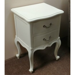 SHOWROOM CLEARANCE ITEM - Frank Hudson Chic Bedside Table in Chalk Finish