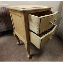 SHOWROOM CLEARANCE ITEM - Frank Hudson Chic Bedside Table in Weathered Finish