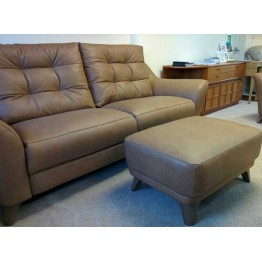 SHOWROOM CLEARANCE ITEM - G Plan Pip 3 seater settee with a power recliner and footstool