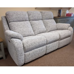 SHOWROOM CLEARANCE ITEM - G Plan Kingsbury 3 Seater Sofa Recliner and Recliner Chair - Full Power Actions & Adjustable Lumbar and Neck Pillows
