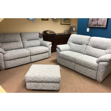 SHOWROOM CLEARANCE ITEM - Pair of G Plan Seattle Sofas with a Storage Footstool
