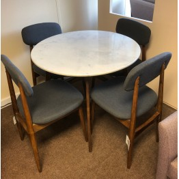 SHOWROOM CLEARANCE ITEM - Hudson Living Gallery Direct Barcelona Round Table & Four Chairs