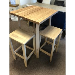 SHOWROOM CLEARANCE ITEM - Hudson Living Gallery Direct Kielder Bar Table & 2 Bar Stools