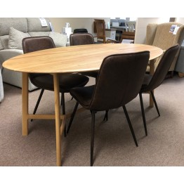 SHOWROOM CLEARANCE ITEM - Hudson Living Gallery Direct Madrid Table with Newton Chairs