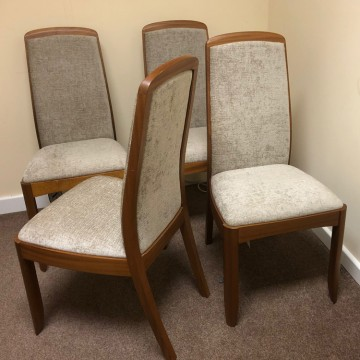 SHOWROOM CLEARANCE ITEM - Nathan Shades Teak 3804 Dining Chairs - Set of 4