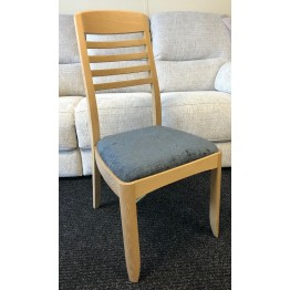 SHOWROOM CLEARANCE ITEM - Set of 4 Nathan Furniture Oak Ladderback Dining Chairs - Model 3815  - ONLY ONE SET LEFT
