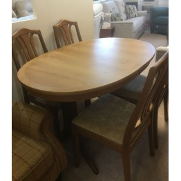 SHOWROOM CLEARANCE ITEM - Nathan Classic Teak Table and 4 Chairs