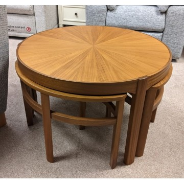 5604 Nathan Classic Sunburst Trinity Nest of 3 Tables - LIMITED NUMBERS AVAILABLE