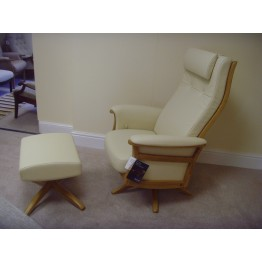 SHOWROOM CLEARANCE ITEM - Ercol Furniture Gina Swivel Recliner & Footstool