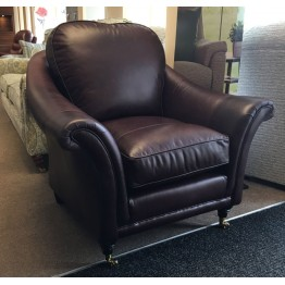 SHOWROOM CLEARANCE ITEM - Parker Knoll Hanbury Chair in Smokey Leather