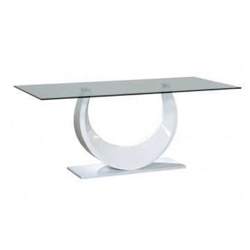 Sciae Furniture Smooth Glass Dining Table - 36 White - No 10 Glass Dining Table