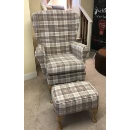 SHOWROOM CLEARANCE ITEM - Shackletons Edinburgh Chair & Stool