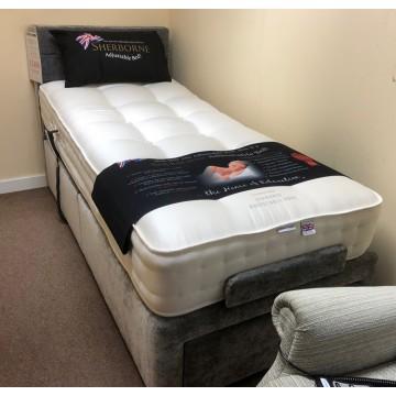 SHOWROOM CLEARANCE ITEM - Sherborne Dorchester Adjustable Bed - Single 3ft size - Head & Foot end adjusting